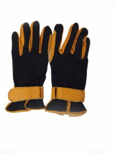 BLK/TAN RIDING GLOVE