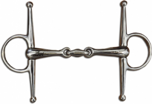 FULL CHEEK SNAFFLE W ELLIPTICAL LINK - SS