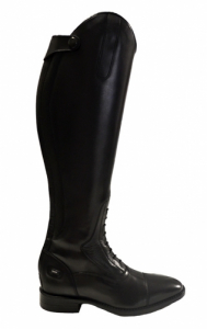Leather Long Boot w Zip