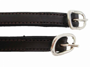 STITCHED LEATHER SPUR STRAP